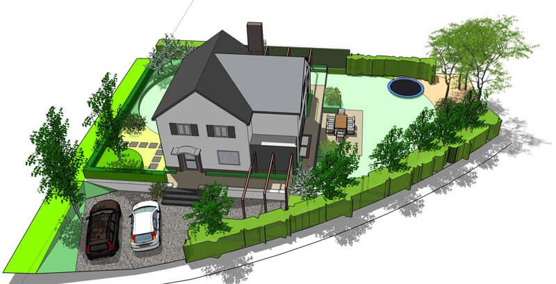 Tuin ontwerpen in 2d of 3d voor een goed beeld van uw for 3d tuin ontwerpen
