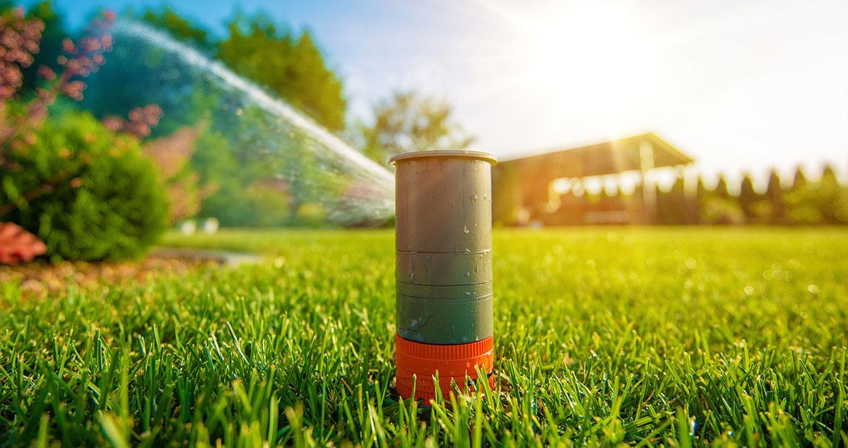 automatische beregening van de tuin