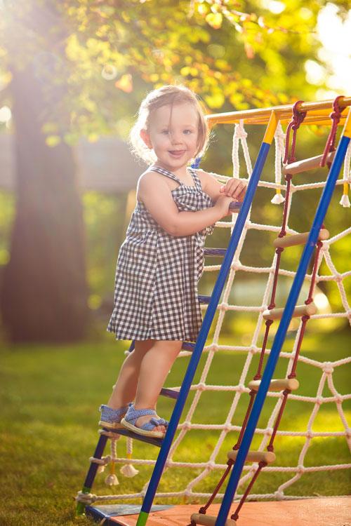 kindvriendelijker tuin met speeltoestellen