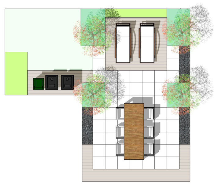 Ontwerp plan voor tuin in Wijchen