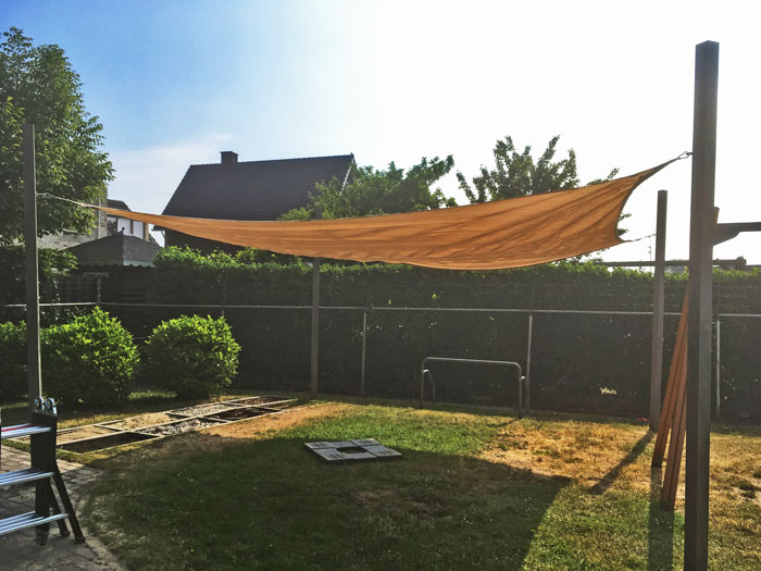 schaduwdoek voor schaduw in de tuin