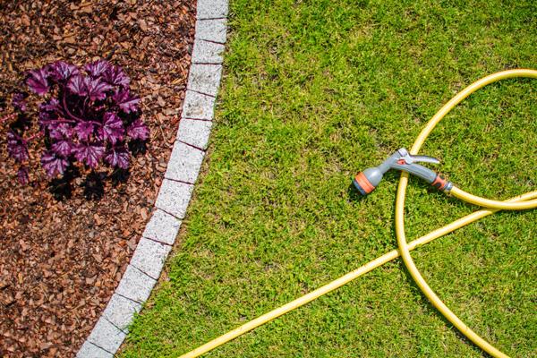 tuin sproeien bij droogte