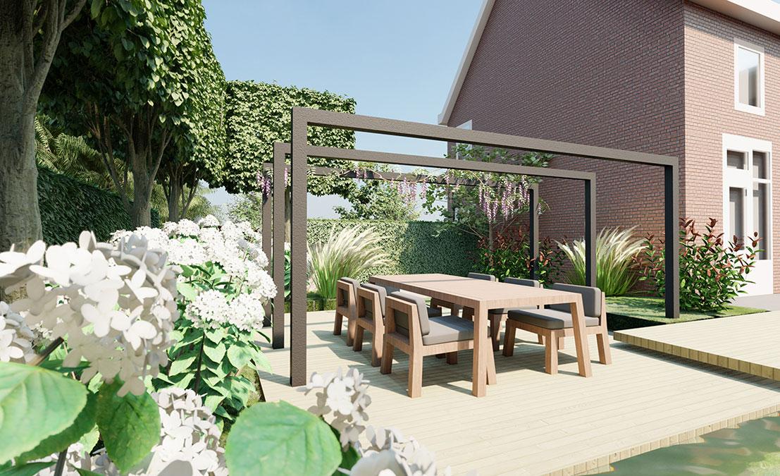 De tuin van 2021 natuurlijke materialen