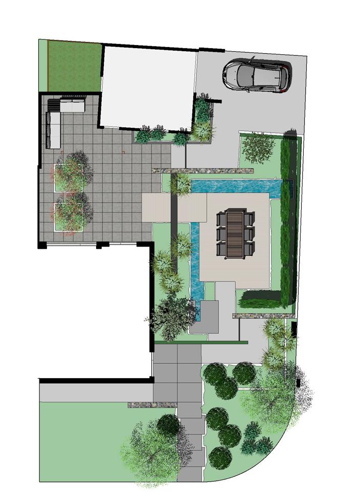 2D tuinontwerp bovenzijde
