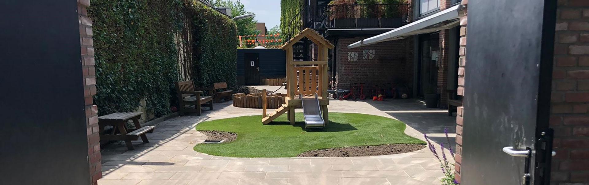 Kinderdagverblijf tuinen aanleggen